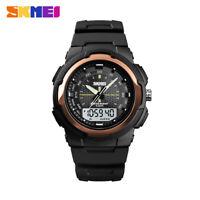 SKMEI LCD Men's Quartz Sports Wrist Watch 50m Waterproof Double Display 1454 E9