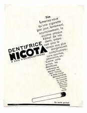 1940 / Publicité pour le DENTIFRICE NICOTA / Soins / Beauté / LD96