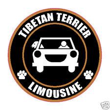 "LIMOUSINE TIBETAN TERRIER 5"" DOG STICKER"