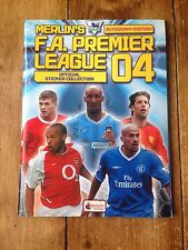 2004 MERLIN F.A. PREMIER LEAGUE CALCIO ADESIVO ALBUM 12% completato 69/566