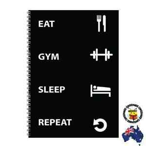 2x Gym Journal Workout Weight Fitness Log Diary Tracker Personal Trainer c
