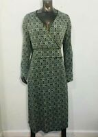 Max And Cleo Size L Large Women's Long Sleeve V-Neck Dress Stretch