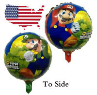 """5 Pcs BIG Super Mario Brothers 18"""" Foil Balloon for Birthday Party Favors USA"""