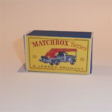 Matchbox Lesney 30 b 6-Wheel Crane empty Repro D style Box