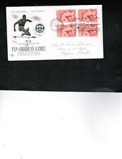 CANADA 1967 PAN-AMERICAN GAMES BL/4 FDC #472 cat $3.00 Used  BOX 525