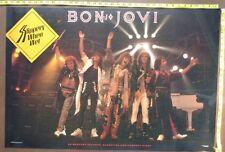 """BON JOVI Poster,24x36"""",Very RARE Original,Record Company promo,Slippery when wet"""