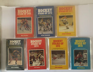 "1969-1975 ""HOCKEY STARS OF"" Books, Paperback (Lot of 7)"