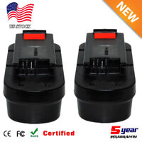 2X 18V Slide Battery for Black & Decker HPB18 HPB18-OPE 244760-00 Firestorm A18