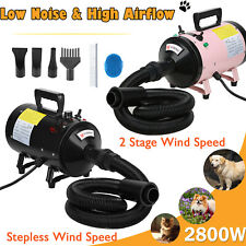 2800W Dog Cat Pet Dryer Grooming Hair Stepless Speed Blaster Blower Heater