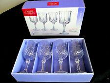 4 ARC Cristal D'Arques Longchamp 2 oz Shot Goblet / Glass In Original Box