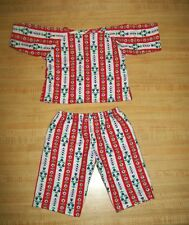 """20""""  TRU CPK Cabbage Patch Kids STRIPED FLANNEL PAJAMAS PJS outfit ONLY"""