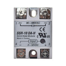 SSR-10DA-H for FOTEK 10A DC-AC Solid State Relay input 3-32VDC output 90-480VAC