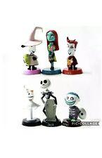6 PCS Nightmare Before Christmas Action Figures Set Figurine Playset Toys