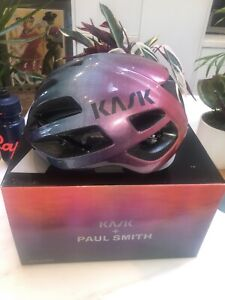 Kask x Paul Smith Protone Helmet Rainbow Gradient Size Medium New In Box *Rare*