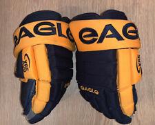 "Eagle X65 hockey gloves - 14"" - blue gold Nashville Predators colorway"