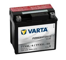 Varta Powersports AGM ytx5l-4 ytx5l-bs Batería de la Motocicleta 4ah 12v