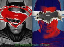 BATMAN vs SUPERMAN & THE DARK KNIGHT MOVIE POSTER All 3 Original N.MINT DS 27x40