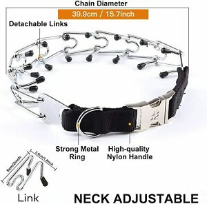Dog Prong Collar, Training Metal Gear Pinch for Dogs with Quick Release....