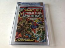 GIANT SIZE SPIDER-MAN 5 CGC 9.0 WHITE LIZARD GWEN STACY MAN-THING MARVEL COMICS