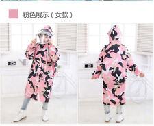 Boys Girls Raincoat Suit Kids Children Cape Rainwear Hooded Poncho S3-18Y Thick