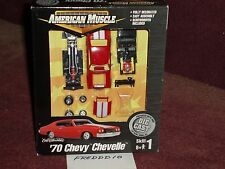 ERTL 1970 CHEVY CHEVELLE RED 1/64 ASSEMBLY MODEL KIT