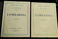 Touring Club Italiano Lombardia Parte Prima e Seconda Milano 1931/1932