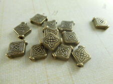 35 Antique Brass Plated Flat Diamond Beads Findings 48190p