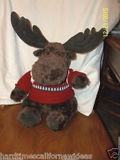 Gund American Eagle MAC THE BROWN MOOSE Plush With Sweater & Backpack 18""