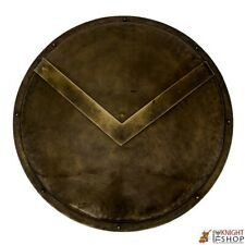 "Dark Antique Finish 24"" Medieval Battle Armor Spartan Shield Halloween"
