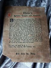 UVF Ulster Solemn League And Covenant 1912 Anti Home Rule Carson
