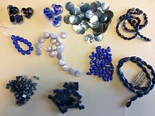 Glass, Shell, Sodalite, Cats Eye, Lapis, Blue Collection Jewelry making beads