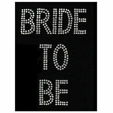 Rhinestone iron on bride to be transfer diamante hen night party acaeessories