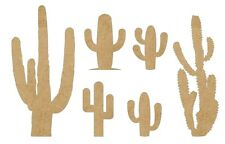 6 mixed Cactus plants MDF blanks, Picture-Scrapbook-box #CACT005=80mm
