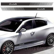 Fasce adesive Alfa Romeo GIULIETTA strisce fiancate adesivi laterali alfaromeo