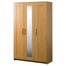 IKEA - BRIMNES WARDROBE with 3 Door mirror / 2 Door - SET White, Oak BEDROOM NEW