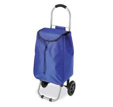 Portable Folding Rolling Cart Trolley Camping Beach Wagon Wheels Shopping Blue