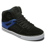 DC SHOES MENS PURE HI TOPS BOOTS.NEW BOXED BLACK HIGH LEATHER UPPER TRAINERS S21
