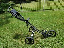 Sun Mountain 3 Wheel Black Folding Push Speed Cart V1 Golf Bag Cart