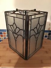 Tiffany Victorian Style Panel Lightshade Clear Floral Leaded Glass Ceiling Light