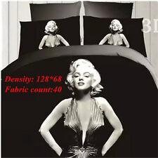 4pcs in1 3D Marilyn Monroe Queen Bedding Set Sheet Duvet Cover Pillowcase 2017
