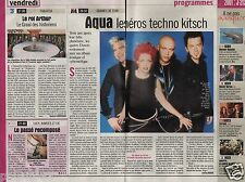 Coupure de presse Clipping 2000 Le groupe Aqua   (1 page 1/3)