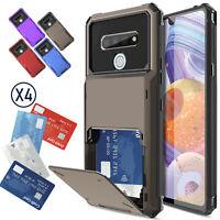 For LG Stylo 6 2020/5/5+ Case Shockproof Hybrid Wallet Card Holder Slot Holder