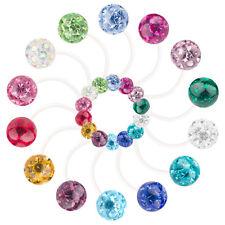 Bauchnabelpiercing Schwangerschaft Bioflex flexibel Ferido Kristall Kugeln