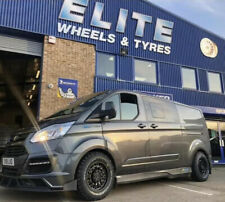 "16"" BLACK RHINO ARSENAL ALLOY WHEELS FORD TRANSIT CUSTOM BFG ALL TERRAIN TYRES"
