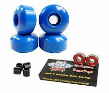 Blank Pro 52mm 99a Blue Skateboard Wheels + Owlsome ABEC 7 Bearings