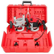 Milwaukee 2-1/4 Max HP EVS Multi-Base Router Kit with Plunge Base BodyGrip Fixed