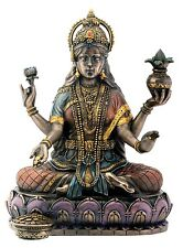 "Religious Decoration Hindu Goddess of Weath Lakshmi Figurine 6.25"" Tall Statue"