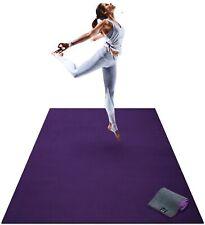 Premium Extra Large Yoga Mat - 6' x 4' x 8mm Extra Thick & Comfortable Purple