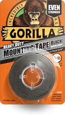 Gorilla Heavy Duty Mounting Tape Double-Sided Weatherproof Black 1.5m