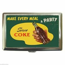 COKE COCA-COLA MAKE EVERY MEAL A PARTY Cigarette Money Case ID Holder or Wallet!